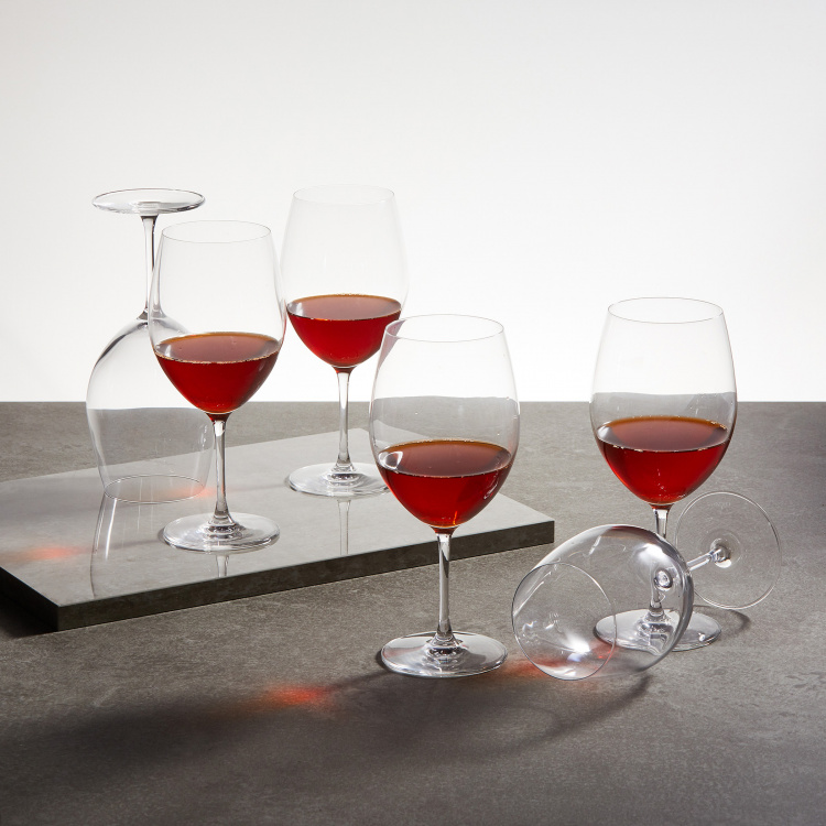 OCEAN Lucaris  6-piece Round Bordeaux Glass set- 745 ml