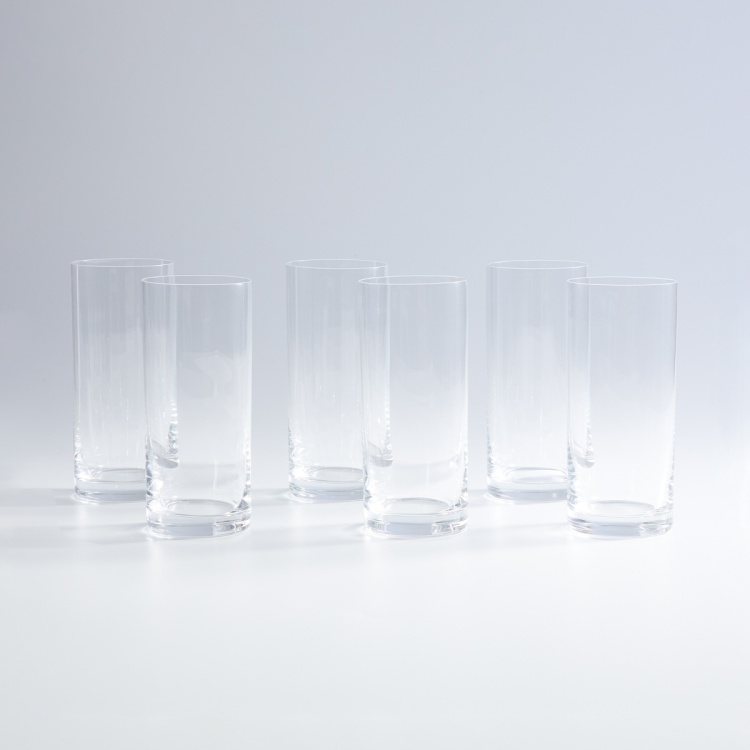 BOHEMIA CRYSTAL Barline Round Tumblers - Set of 6