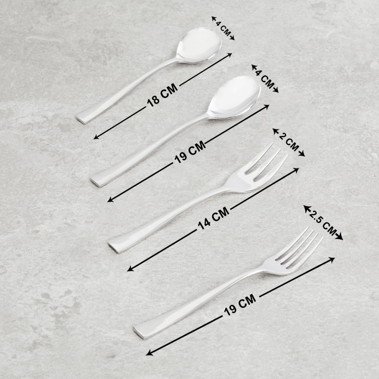 FNS 90-Piece Slimline Cutlery Set