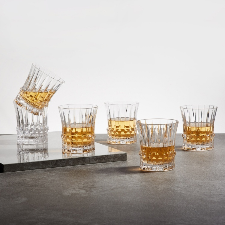 SOLITAIRE Equator Dof Round Crystal Glasses - Set of 6