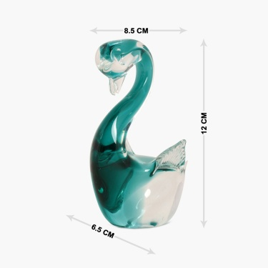 Swan Glass Figurine