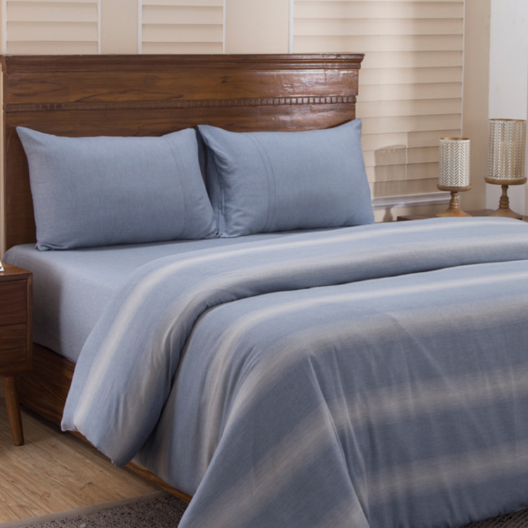 MASPAR Rhythmic Striped 3-Pc. King Size Duvet Set  - 228 x 275 cm