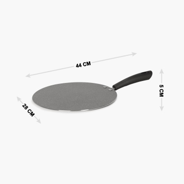 Marlin Non-stick Marble Coating Flat Tawa - 28 CM