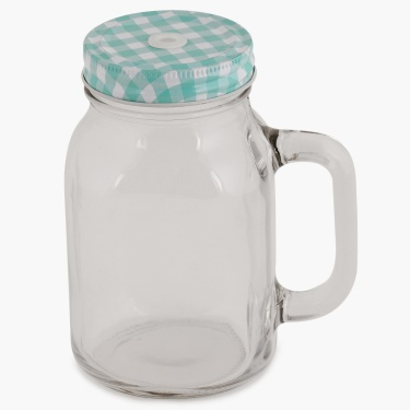 Peroni Mason Jar With Lid And Straw - 550 ml
