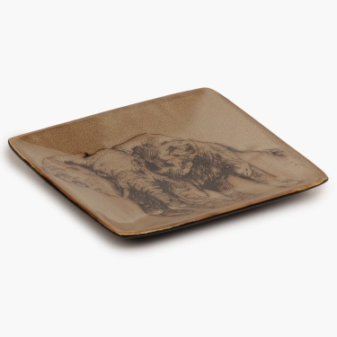 Imperial Elephant Square Plate-6 Inch