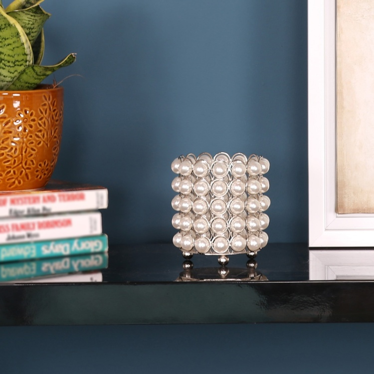 Pearl Cylindrical Votive Holder