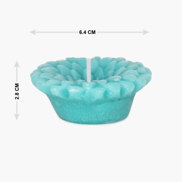 Redolance Ocean Blue Floating Candle- Set Of 2 - 9 CM