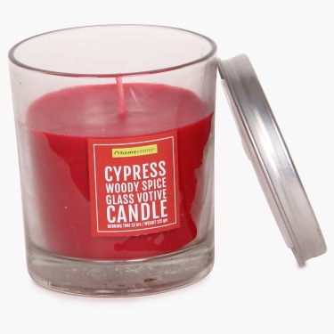 Cypress Adah Glass Votive Candle