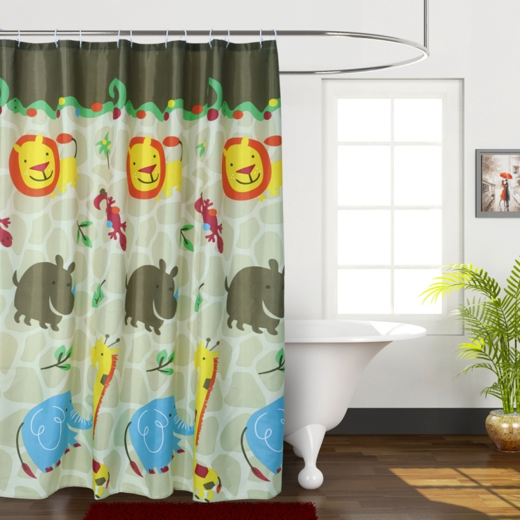 City Goes Wild Shower Curtain