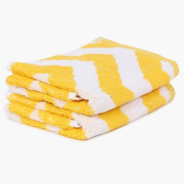 Chevron Face Towel- Set Of 2