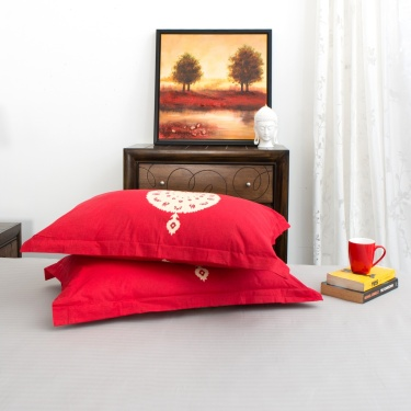 Mandarin Printed Pillow Cover - Set of 2 - 70 X 45 CM