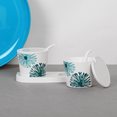 Coastal Living Condiment Set With Stand