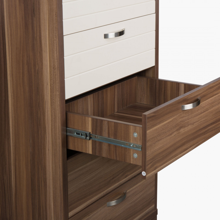 Akron Crystal Textured Chest of Drawers