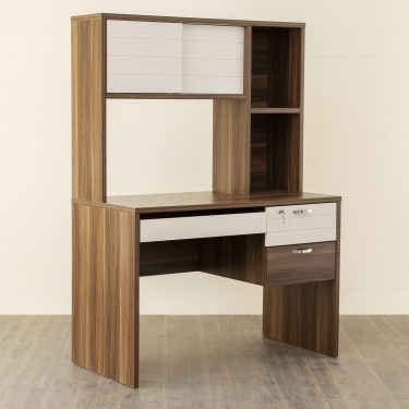 Akron-Crystal Desk with Hutch