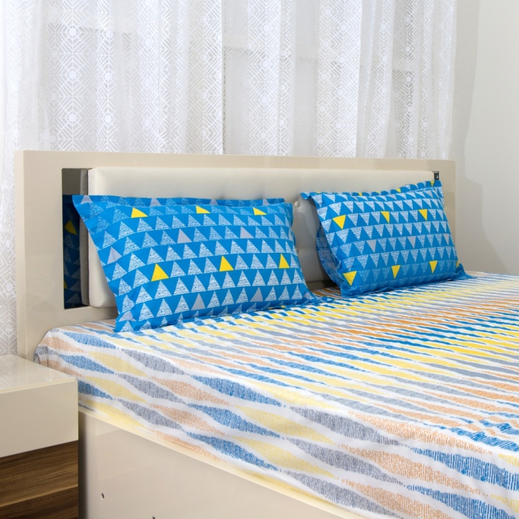 SPACES Allure Printed 3-Pc. Double Bedsheet Set - 274 x 274 cm