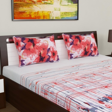 PORTICO Abstract Print 3-Pc. Double Bedsheet Set - 274 x 274 cm