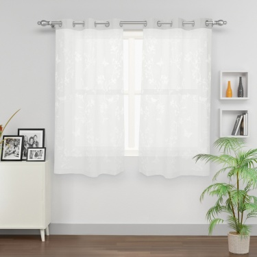 Aspen Sheer Window Curtain Set-2 Pcs