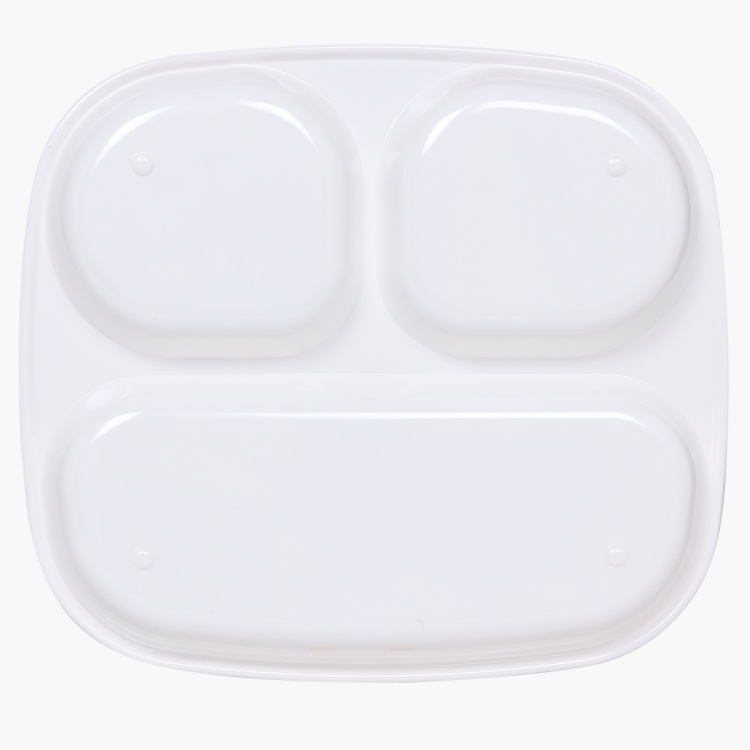 Adventure of U-tron Rectangular 3 Partition Kids Plate