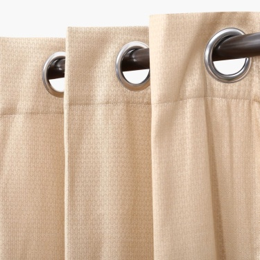 Aspen Solid Door Curtain - Set Of 2