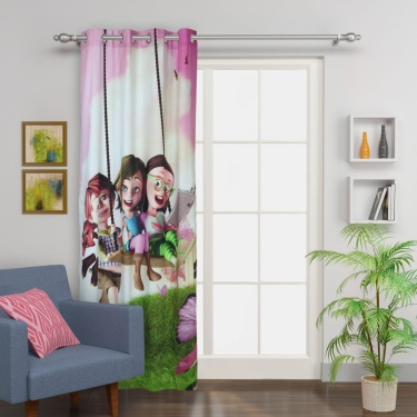 Kids Fabolous3 Kids Swinging Girls Single Door Curtain