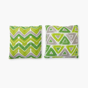 Ebony Grace Printed Filled Cushion-Set Of 2-30 x 30 CM