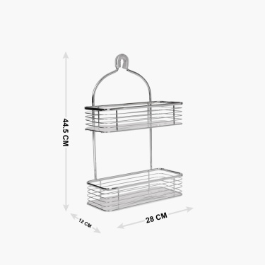 Burlington Two Tier Self Hanging Shower Caddy