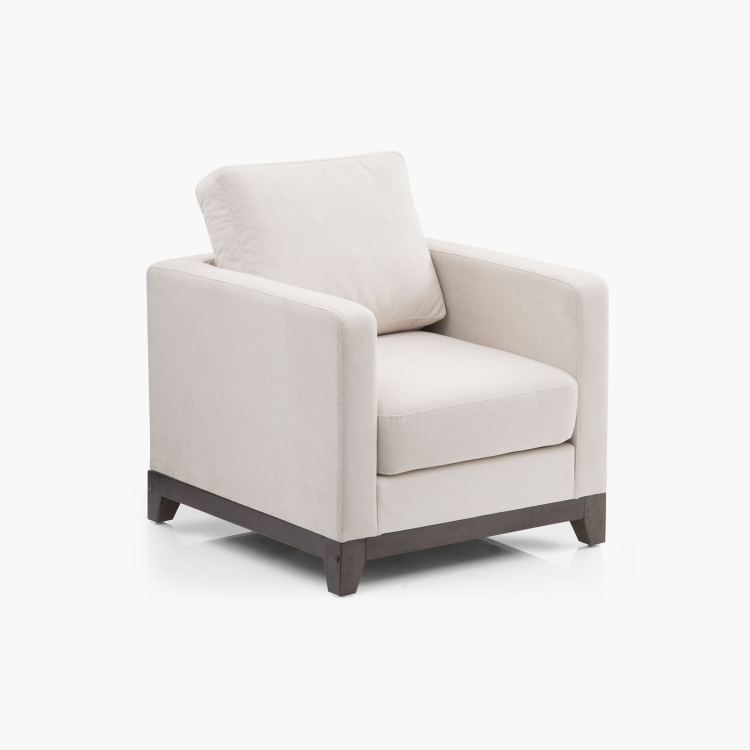 Adalyn Miami Fabric Sofa -1 Seater Beige