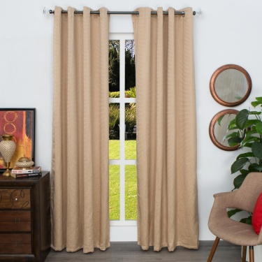Marshmallow Chennile Door Curtain - Set of 2 - 135 X 225 CM
