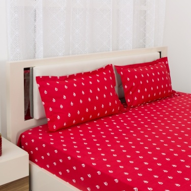 Mandarin Printed 3-Pc. Double Bedsheet Set - 240 x 274 cm