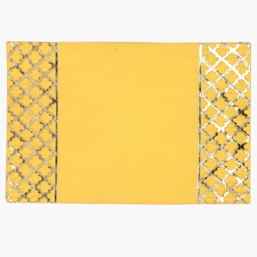 Marigold Solid Placemat With Embellished Border