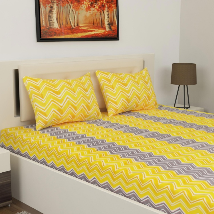 Emerald Bellini Printed 3-Pc. Double Bedsheet - 240 x 274 cm