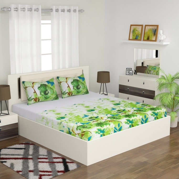 Emerald Meadow 3-Pc. Double Bedsheet - 240 x 274 cm