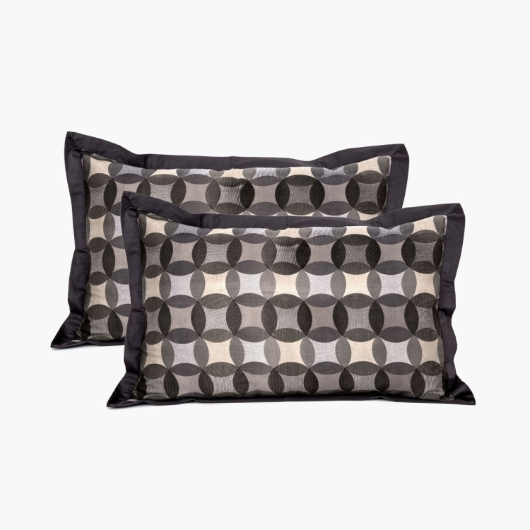 Maspar Fastive Solace Geometric Print Pillow Cover - Set of 2 - 50 x 75 cm