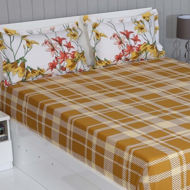 PORTICO Marvella 3-Pc. Queen Size Bedsheet Set - 224 x 254 cm