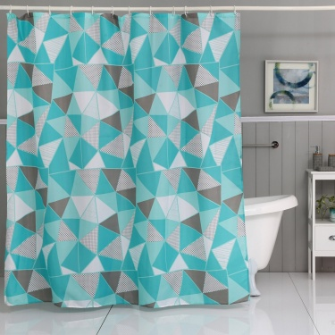 Hudson Printed Shower Curtain- 180X180Cm
