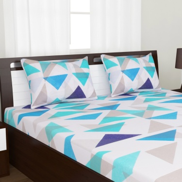 Mandarin King Size Fitted Sheet Set- 3 Pcs.