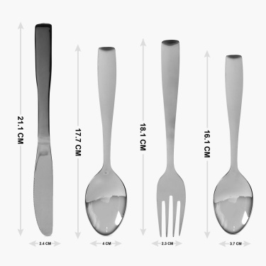 Glister Arden Cutlery Set with Stand - 24 Pcs