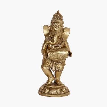 Galaxy Mystic Polyresin Standing Ganesha With Tabla
