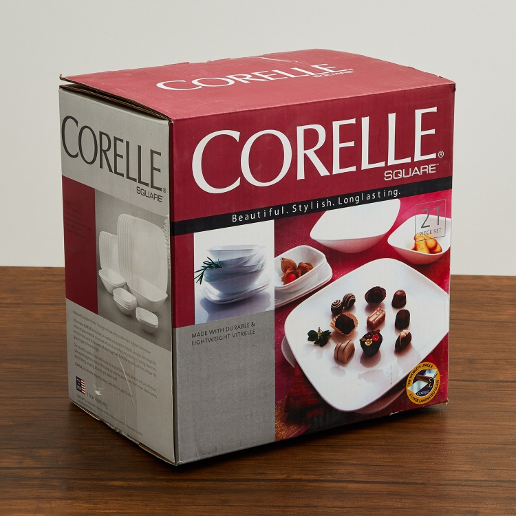 Corelle Shadow Iris 21-Piece Dinner Set