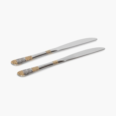 Glister Fiona Gold Dinner Knife- Set Of 2 Pcs.
