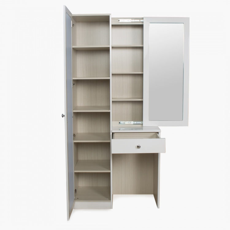 Alps Tall Dresser with Sliding Mirror