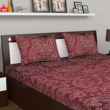 D'DECOR Cherish 3-Pc. Double Bedsheet Set - 254 x 274 cm