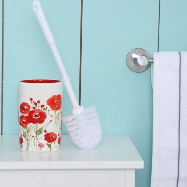 Hudson Poppy Ceramic Toilet Brush Holder