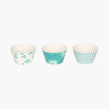 Emily Microwave Printed Bowl Set- 3pcs