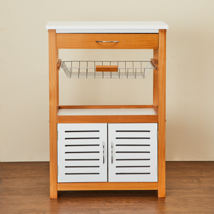 Tranzit Wooden Rectangular-Shaped Kitchen Trolley