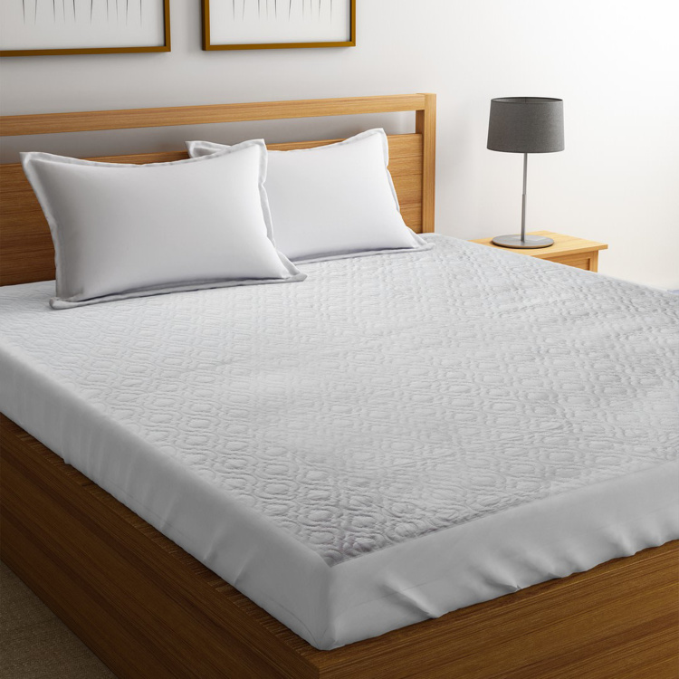 PORTICO NEW YORK Solid Double Bed Mattress Protector -  152 x 198 cm