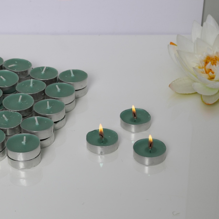 Ocean Breeze Scented T-Light Candles - Set Of 50