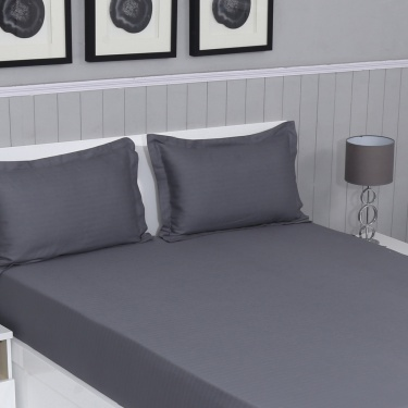 Colour Connect 3-Pc. Chevron Fitted King Size Bedsheet Set - 180 X 195 cm
