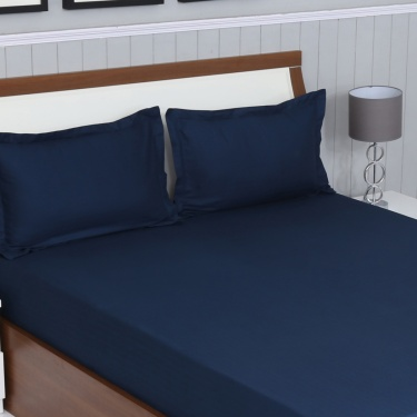 Colour Connect 3-Pc. Chevron Fitted Queen Size Bedsheet Set - 150 X 195 cm