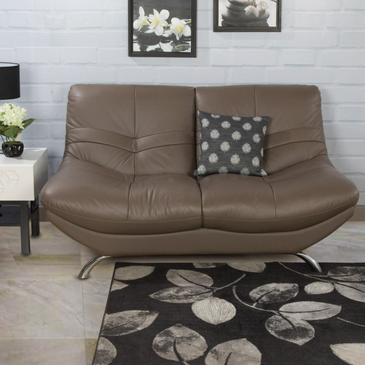 Residence Half Leather 2-Seater Sofa